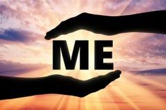Begrepp av själviskhet och själv-förälskelse vektor illustrationer