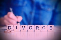Begrepp av skilsmässan Royaltyfri Foto