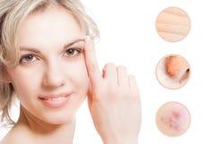 Begrepp av skincare Arkivfoto