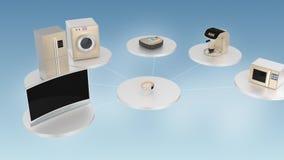 Begrepp av smart energi - besparingproduktekosystem vektor illustrationer