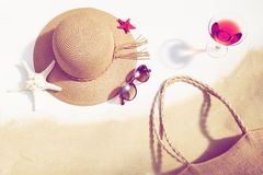Begrepp av sommarsemestrar royaltyfri fotografi