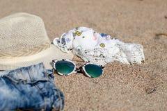 Begrepp av sommarsemestrar arkivfoton
