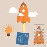 Begrepp av startup utveckling Arkivbilder