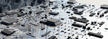 begrepp av strömkretsar arkivfoto