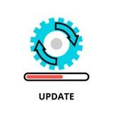 Begrepp av symbolen för uppdateringapplikationframsteg Arkivbilder