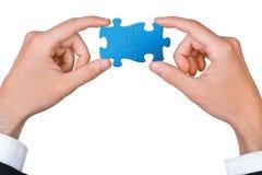 Begrepp av teamwork Arkivbilder