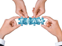 Begrepp av teamwork Fotografering för Bildbyråer