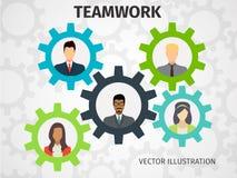 Begrepp av teamwork för rengöringsduk och infographic Royaltyfri Foto
