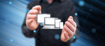 Begrepp av teknologiapparater royaltyfria foton