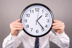 Begrepp av tid på arbete fotografering för bildbyråer