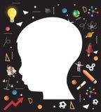 Begrepp av utbildning av barn utvecklingen av kunskap stock illustrationer