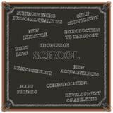 Begrepp av utbildning på skolan, vektorillustration Arkivfoto