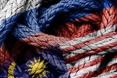 Begrepp av utländskt eller diplomatisk förbindelse mellan länder arkivfoto