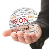 Begrepp av vision i affär Arkivbilder