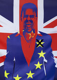 Begrepp Brexit UK och EU-flaggasammansättning Royaltyfria Bilder