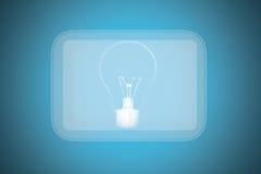 Begrepp elektrisk strömbrytare för pekskärm. Arkivbilder