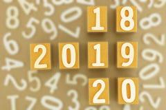 Begrepp för år 2018,2019,2020 Royaltyfria Bilder