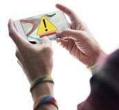 Begrepp för AbEnd för fel för felDisconnectvarning Arkivfoton