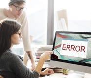 Begrepp för AbEnd för fel för felDisconnectvarning Fotografering för Bildbyråer