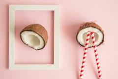Begrepp för abstrakt konst för exotisk frukt minsta idérikt Arkivbilder