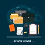 Begrepp för affärsdokument royaltyfri illustrationer