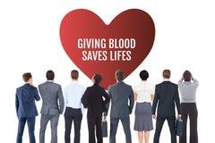 Begrepp för affärsfolk och för bloddonation Royaltyfri Foto