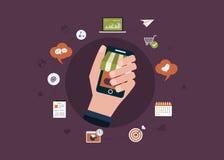 Begrepp för affärsstrategi Arkivfoton