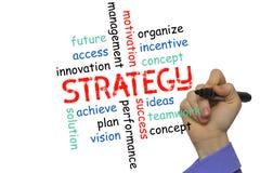 Begrepp för affärsstrategi och andra släkta ord, Fotografering för Bildbyråer