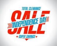 Begrepp för affisch för självständighetsdagenförsäljningsvektor, sammanlagd rensning vektor illustrationer