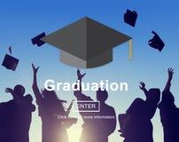 Begrepp för akademisk prestation för avläggande av examenutbildning stock illustrationer