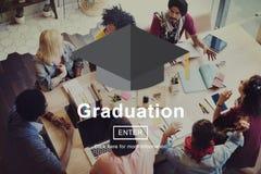 Begrepp för akademisk prestation för avläggande av examenutbildning arkivfoto