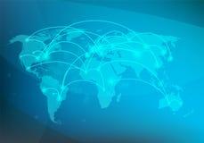 Begrepp för anslutning för globalt nätverk, vektor illustrationer