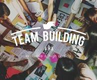 Begrepp för anslutning för teamworksamarbetssamhörighetskänsla royaltyfri fotografi