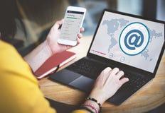 Begrepp för anslutning för trådlös teknologi för globala kommunikationer Arkivbild