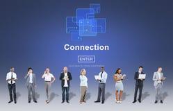 Begrepp för anslutningsinternetonline-Websie webbsida royaltyfri fotografi