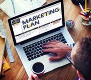 Begrepp för anvisningar för taktik för strategi för marknadsföringsplan arkivfoton
