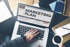 Begrepp för anvisningar för taktik för strategi för marknadsföringsplan royaltyfri bild