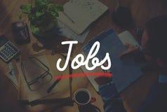 Begrepp för applikation för ockupation för jobbanställningkarriär royaltyfri foto