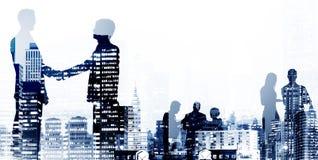 Begrepp för arbetare för vit krage för avtal för affärshandskakningöverenskommelse royaltyfri illustrationer