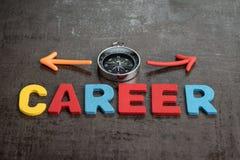 Begrepp för arbetsmöjligheter för företagskarriärbana vid färgrikt trä fotografering för bildbyråer