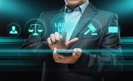 Begrepp för arbetsmarknadslagstiftningadvokatLegal Business Internet teknologi royaltyfri fotografi