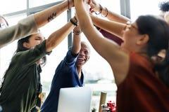 Begrepp för arbetsplats för idékläckning för afrikansk nedstigning funktionsdugligt royaltyfri bild