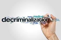 Begrepp för avkriminaliseringordmoln på grå bakgrund royaltyfria bilder