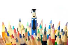 Begrepp för avläggande av examenparti arkivfoton