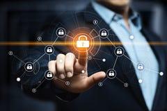 Begrepp för avskildhet för teknologi för affär för skydd för Cybersäkerhetsdata royaltyfria bilder