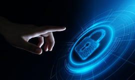 Begrepp för avskildhet för teknologi för affär för skydd för Cybersäkerhetsdata royaltyfri fotografi