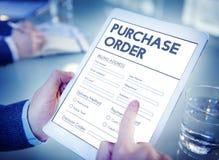 Begrepp för avtal för form för köpbeställning online- Royaltyfri Foto