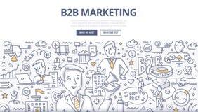 Begrepp för B2B marknadsföringsklotter vektor illustrationer
