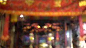begrepp för bakgrund för tempel för porslin 4K rött för lycklig kinesisk skärmbakgrund för nytt år 2019, oskarp utomhus- buddist arkivfilmer