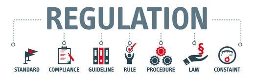 Begrepp för banerregleringsillustration royaltyfri illustrationer